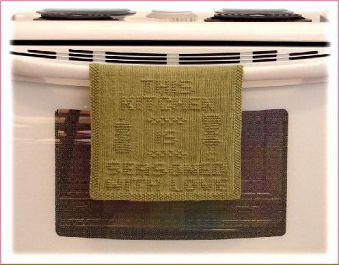 This Kitchen Is Seasoned With Love Oven Hanger Knit Towel Pattern