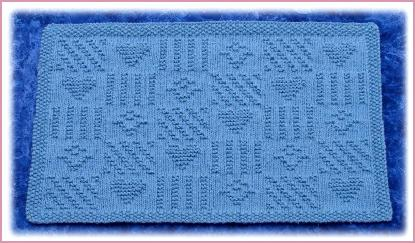 Knitted Placemat Patterns : Country Patchwork Knit Placemat Pattern